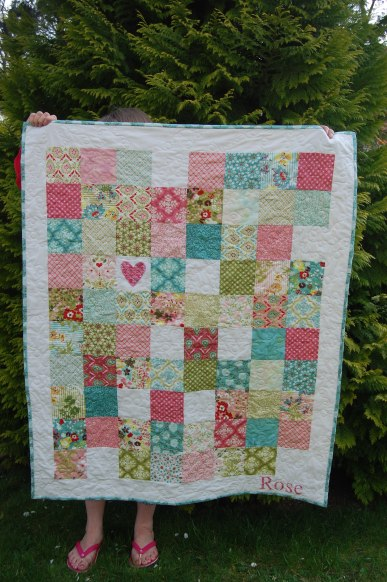 helllo luscious baby girl quilt
