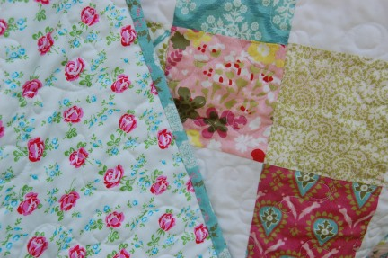 back of hello luscious quilt