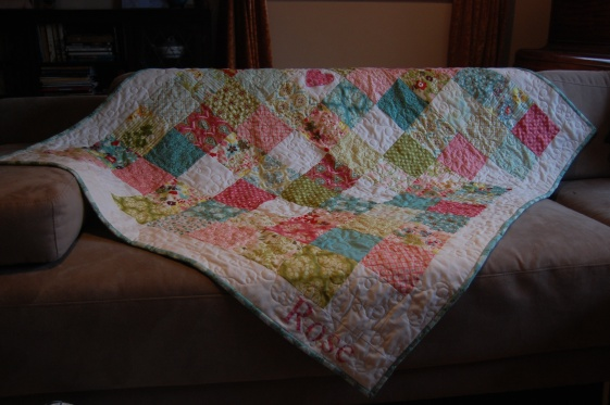 hello luscious child quilt