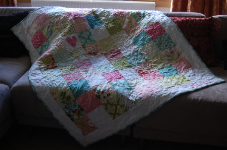 hello luscious baby girl quilt