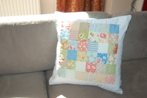california girl patchwork cushion