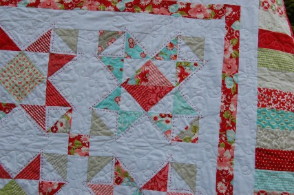 quilting - loop and leaf